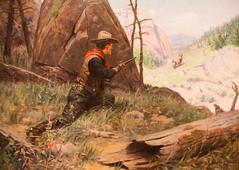 Gun Control (Thomas Hawk) Tags: usa painting cowboy colorado gun unitedstates denverartmuseum unitedstatesofamerica denver musuem wherbertdunton williamherbertdunton readyforthekill