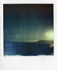 Golden gate bridge (teacup_dreams) Tags: california bridge sunset sea usa project polaroid island golden gate san francisco alcatraz polar impossible
