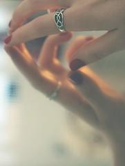 {47/365} detached (lavishlylush) Tags: inspiration reflection mirror soft hand skin bokeh smooth aspiration reflect reach apieceofme imkelsi aspirationinspiration