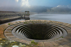 The stuff of nightmares (PentlandPirate of the North) Tags: park bell dam peakdistrict reservoir national overflow ladybower plughole