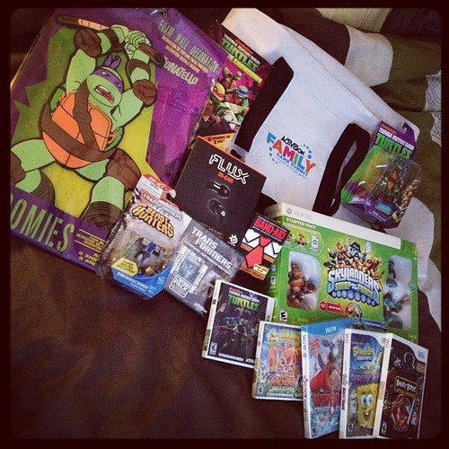 #atvifamgames gift bag. #skylanders #swapforce for #Xbox360....