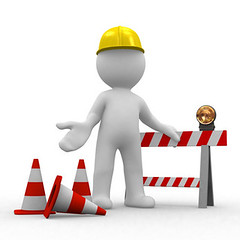sorry, under construction (Dom.Boulay.fr) Tags: road street hardhat people white abstract cute sorry hat sign architecture danger work warning real site 3d construction waiting sad estate traffic symbol puppet cone web under helmet progress www security safety forbidden greece help human stop cap planning return page come worker repairing manual engineer tool solution striped occupation