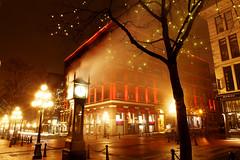 Steam Clock @ Gastown (GoToVan) Tags: clock foggy steam midnight gastown