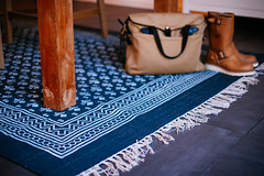New carpet, indigo! (D_habits) Tags: carpet indigo filson redwingshoes
