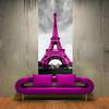 Foto-tapeta Wieża Eiffla w różu (artpasaz) Tags: obraz miasto architektura paryż francja dekoracja tapety naklejka wieżaeiffla różowe