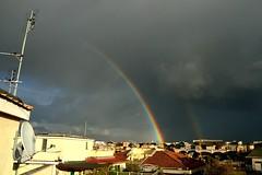 Double Rainbow in Rome 2 (AndBiancafarina) Tags: sun roma sunshine rainbow nuvole sole arcobaleno cieloromano {vision}:{sky}=0733 {vision}:{outdoor}=0713