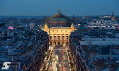 Opera Garnier from Louvre (A.G. Photographe) Tags: sunset paris france french nikon europe ag bluehour capitale nikkor franais parisian anto d800 xiii opragarnier parisien antoxiii 70200vrii agphotographe