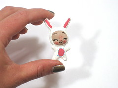IMG_7389 (BeBe Babies and Friends) Tags: sculpture cute rabbit bunny easter toy miniature doll soft dolls babies tiny kawaii bebe blythe accessories accessory
