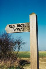 Restricted Way (John   Adrian   Orr   Photography) Tags: 50mm norfolk vista nikkor f18 agfa denton ai nikkormat ft2