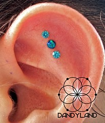 """Triple flat piercings • <a style=""""font-size:0.8em;"""" href=""""http://www.flickr.com/photos/122258963@N04/13611597544/"""" target=""""_blank"""">View on Flickr</a>"""