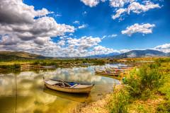 A saturday (Nejdet Duzen) Tags: trip travel cloud reflection nature turkey landscape boat trkiye sandal bul
