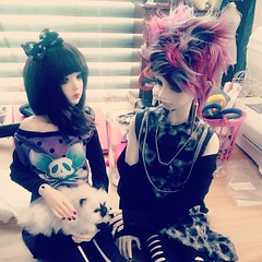 #kitty #Dollstagram #bjd #cute #balljointeddoll #supiadoll #rosy  #littlemonica #kliff #grunge #pastelgoth #alrunaslovlies  #BlakKissBJD (Black*Kiss) Tags: square nashville squareformat iphoneography instagramapp uploaded:by=instagram