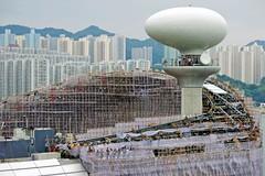 """""""Bamboo Scaffolding"""" - New Kai Tak Cruise Ship Terminal, Hong Kong (TravelsWithDan) Tags: hongkong scaffolding ngc bamboo bambooscaffolding wavinggoodbye worldtrekker reallywouldyoufeelsafetenstoriesuponthatstuff"""