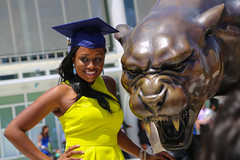 Spring Commencement 2014 - April 29 (fiu) Tags: morning statue century us spring graduation bank arena commencement monday panther 2014 10am