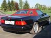 Mercedes SL 129 mit verschlissenem Designo-rotem Verdeck vorher