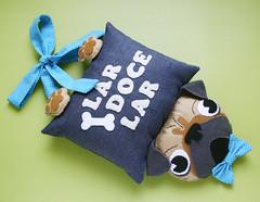 Enfeite de porta (Meia Tigela flickr) Tags: handmade artesanato artesanal craft pug felt cachorro porta feltro decoração enfeite cachorrinho feitoamão
