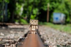 Danbo bei der MKB (Stefan's Gartenbahn) Tags: berlin skl mkb schiene k gleis danbo kleinbahn kesselwagen mrkische speichenrad danboard streckenlufer weichenstellhebel speichenachse