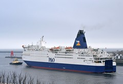 Pride of York. Tyne 140215 (silvermop) Tags: sea port river boats ship ships tyne po ferrys passengervessels prideofyork