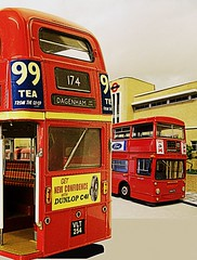 Romford (North Street) bus garage (kingsway john) Tags: kingsway models routemaster 124 scale dms 176 montage model card kit north street romford london transport londontransportmodel bus diorama oo gauge miniature