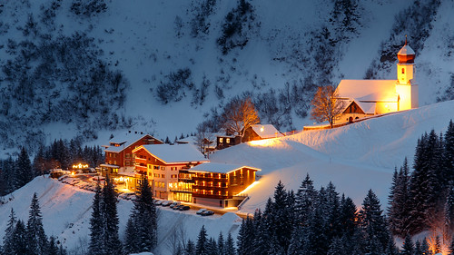 Ski Resort Damüls At Night