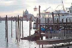 contemplazione (valesstommy) Tags: venice italy water italia tramonto basilica sguardo laguna acqua venezia battello attesa contemplazione briccole