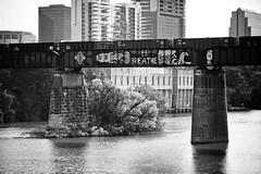 Breathe (Thomas Hawk) Tags: bridge bw usa austin graffiti google texas unitedstates unitedstatesofamerica dell fav10 photowalking photowalking091711 photowalking09172011