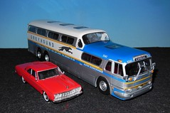 Autocar GREYHOUND Super Scenicruiser (1/43) 1961 (xavnco2) Tags: greyhound france bus car coach model automobile models plymouth collection pullman belvedere autos busses 1964 143 diecast autocar presse ixo hachette universalhobbies modlesrduits scenicruiser