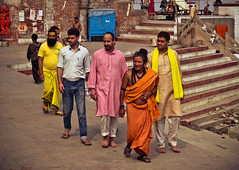 Odd One Out (arkamitralahiri) Tags: travel india nikon religion streetphotography 1855 hindu ganges ghats d3100