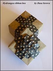 hydrangea box by Dasa Serova (ebesan2000) Tags: paper origami box gift hydrangea papier dasa cadeau fujimoto shuzo serova