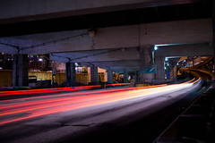 Exit East (RSDiaz) Tags: street city urban toronto canada motion highway nightlights streetlights citylights nightshots gardiner expressway offramp sigma30mm sonyalpha sonyphotography