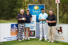 Justine Dreher of France and her team during the Pro-Am (Ladies European Tour) Tags: morocco mor rabat dreherjustinefra