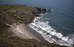 Steep Ravine cabins (birdgal5) Tags: california marincounty steepravine 35mmslide mounttamalpaisstatepark 55mmf35micropc nikkormatel may1977 steepravinecabins mounttamalpaissp