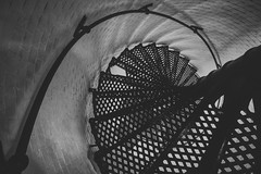 Vortex (rmehdee) Tags: blackandwhite bw lighthouse vortex abstract fall monochrome metal stairs turn canon florida curves swing whirlpool inside jupiter curve bnw rolling kink whirl