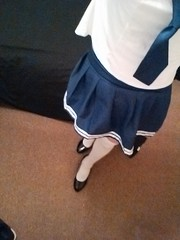 school girl outfit (xrossflower) Tags: nsfw schoolgirl crossdress