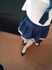 school girl outfit (xrossflower) Tags: nsfw schoolgirl crossdress