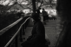 in silence (LOVEducation) Tags: autumn monochrome japan canon 50mm kyoto ricoh a12 2012 f095 gxr mmount