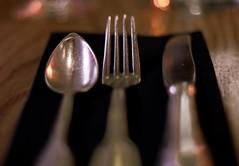 Plan  3 (macresse) Tags: paris restaurant bokeh knife fork spoon fourchette cuillre couteau couverts
