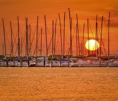 St Kilda Sunset (phunnyfotos) Tags: sunset sea sun beach marina boats coast boat nikon yacht shoreline australia melbourne victoria shore vic coastline yachts masts stkilda portphillipbay d5100 nikond5100 phunnyfotos