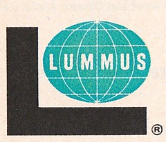 The LUMMUS Company Logo (hmdavid) Tags: world art illustration vintage logo design globe company l 1960s midcentury lummus
