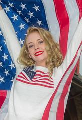 Jillian (jlucierphoto) Tags: portrait people hot sexy girl patriotic blonde lovelyflickr