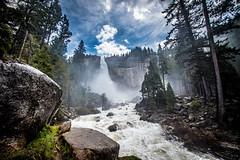 Nevada falls (tibchris) Tags: panorama nature river landscape outdoors waterfall yosemite yosemitenationalpark flume sunnyday nevadafalls yosemitepark