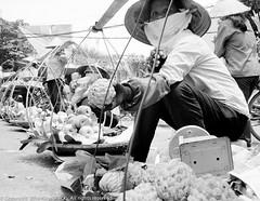 Street Market - Hanoi (Pexpix) Tags: 400tx bw blackandwhite digitizedfilmnegative film kodakd76 kodaktrix400 leica35mmsummicronmf2asph leicampsilver monochrome hanoi hni vietnam
