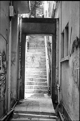 Stairway to heaven - Hollywood road - Hong Kong (waex99) Tags: voyage road street leica travel bw color film monochrome analog hongkong asia stair kodak central 03 stairway hong kong hollywood epson m6 familly escalier m4 50mmf14 argentique marches ektar 2016 v500 35mmf28 21mmf4