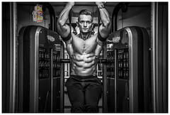 fitness model (Leandro Miguel Soares Andrade) Tags: england blackandwhite man male men photography fitness gym abs digitalphotography malefitness fitnessphotography gymlife