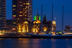 Hotel New York Rotterdam (ex Holland-America-Lijn) (Adam Riese) Tags: rotterdam bluehour nl hotelnewyork niederlande zuidholland blauestunde pentaxdfa10028macro hollandamericalijn pentaxk3 fachexkursionrotterdam