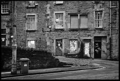 17th of February 2016 (Paul of Congleton) Tags: street uk windows blackandwhite monochrome digital corner graffiti scotland edinburgh doors sony february fairylights 2016 fairylight rx100