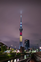 Tokyo Sky Tree(Belgium Flag color) (taga928s4(Akira.T_JPN)) Tags: lighting sky color tree japan night tokyo belgium special        tokyoskytree