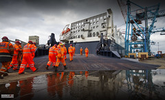 The Day Shift (Mark Holt Photography - 4 Million Views (Thanks)) Tags: liverpool docks work reflections acl dockers dayshift seaforthdocks atlanticcontainerline stevedores seaforthcontainerterminal atlanticsail
