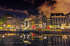 Amsterdam Red Light District (l3v1k) Tags: street city light red urban holland reflection netherlands amsterdam bicycle architecture night river europe cityscape district north culture canals prostitution 500px stadsregio ifttt