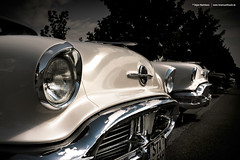 Two 1956 Oldsmobile (Dejan Marinkovic Photography) Tags: white detail classic car super 98 chrome american 1956 88 olds oldsmobile